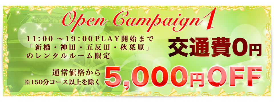 キャンペーン1!!交通費0円。通常価格から2,000円OFF!!